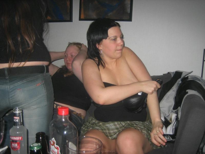 Прожженные толстухи устроили групповой трах